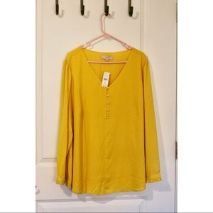 BNWT Loft Button Detail Blouse